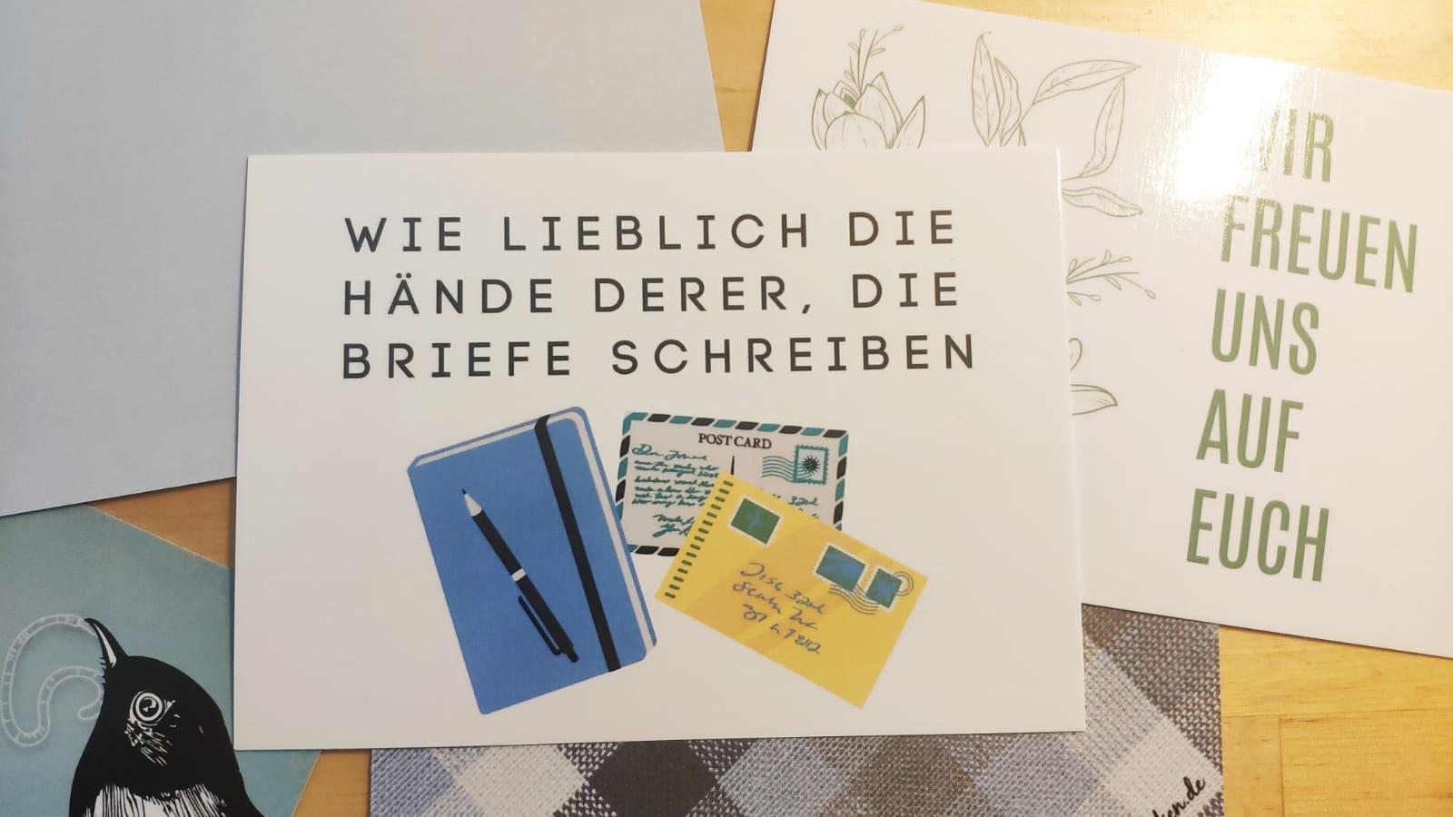 Wie Lieblich Briefe Schreiben // Postkarte